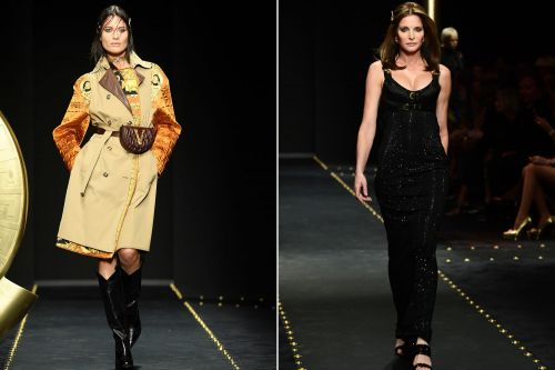 Shalom Harlow and Stephanie Seymour burn up the Versace runway