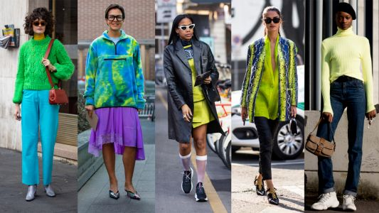 The Fashion Crowd Was All About Slime Green on Day 2 of Milan Fashion Week