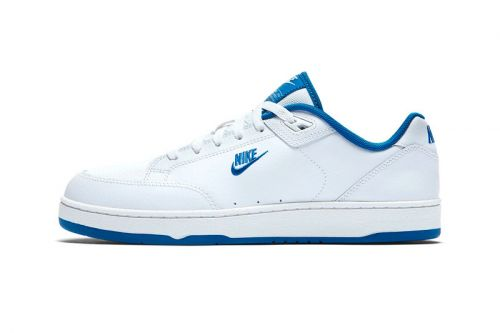 The Classic Nike Grandstand II Tennis Shoe Now Comes in White/Royal