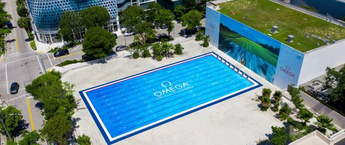 OMEGA Celebrates As The Official Timekeeper Of The Olympics With New Design District Installation