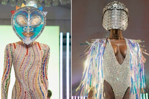 Outrageous headdresses steal the show at Paris Fashion Week