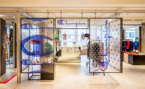 Champion opens women's pop-up store at Selfridges