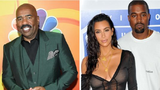 """Steve Harvey Exposes Kim Kardashian's Ability to Play 'Family Feud' - """"Kim Didn't Know Nothing!"""""""