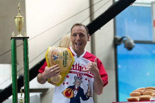 Joey Chestnut Crushes the 2020 Nathan's Hot Dog Eating Contest