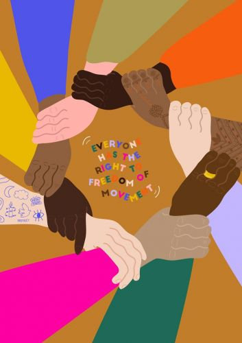 Female and non binary artists are selling affordable work for human rights